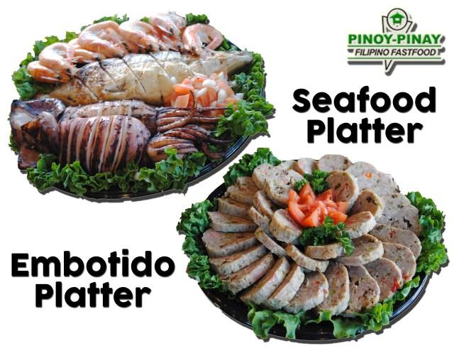 seafood embotido platter